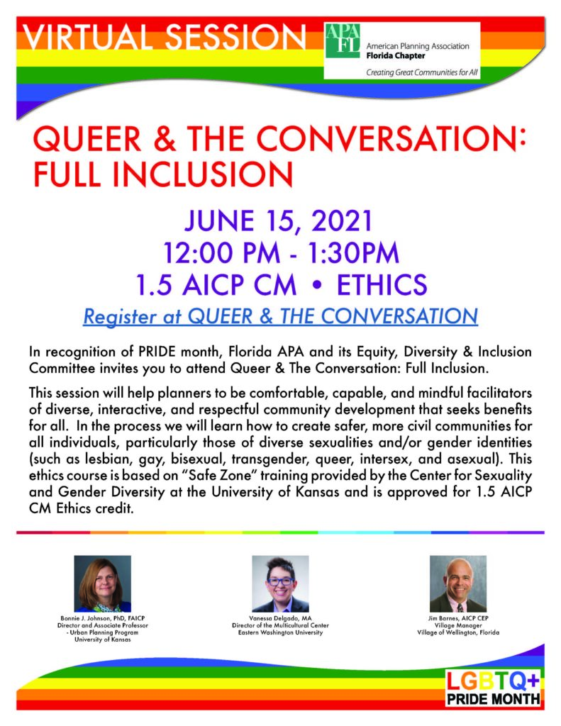 QUEER & THE CONVERSATION: FULL INCLUSION