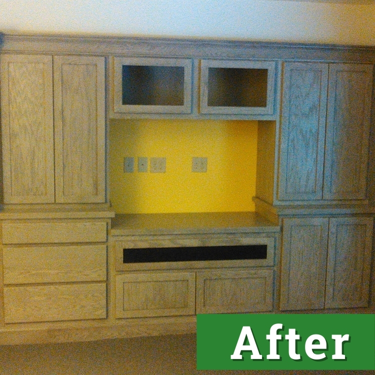 custom cabinetry against a yellow wall