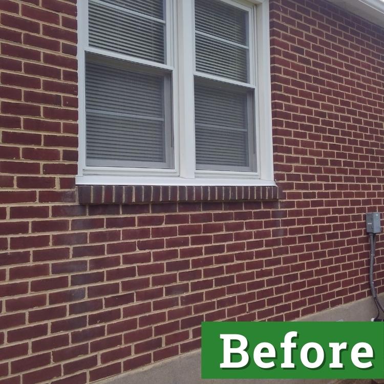 white double pane windows on a brick house
