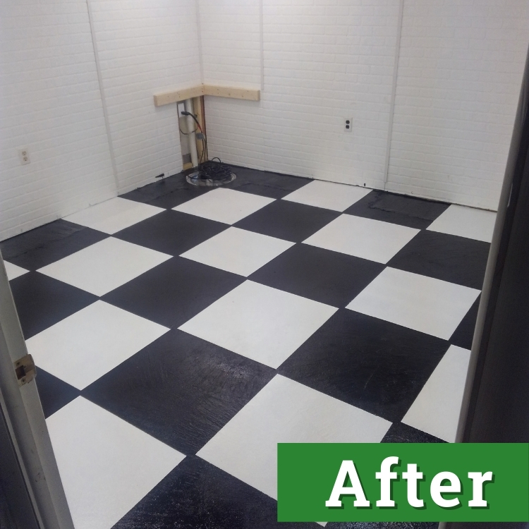new black and white checked flooring