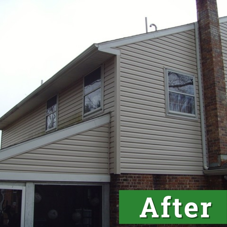 new siding on a beige home