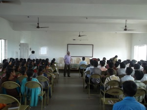Conference at Vikram Eng College, Ankaleshwar Prakasam Tata Adddressing _