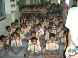 Motivating Sun School Students, Vizag, A.P