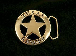 Texas Ranger Belt Buckle