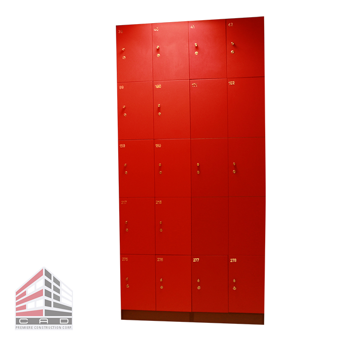 Filing System- Laminated Lockers Customized
