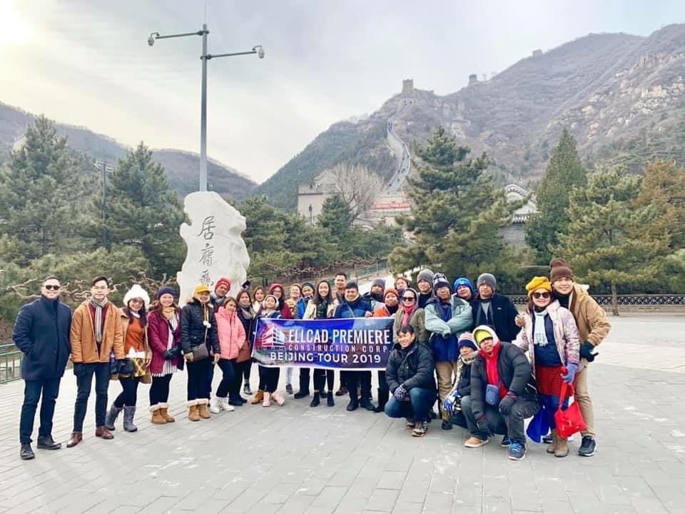 Ellcad Team at the Juyongguan Great Wall