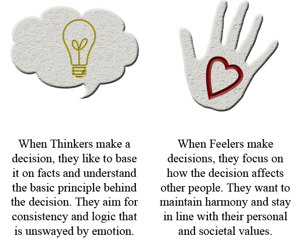 Communication Tip # 6 : Understanding the Differences between Thinkers and Feelers