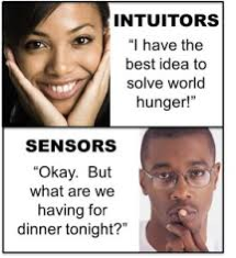 Communication tip #5 : Understanding iNtuitive and Sensate Personality Differences
