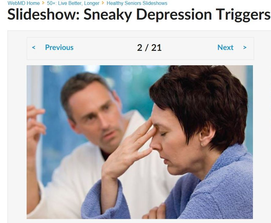 Sneaky Depression Triggers