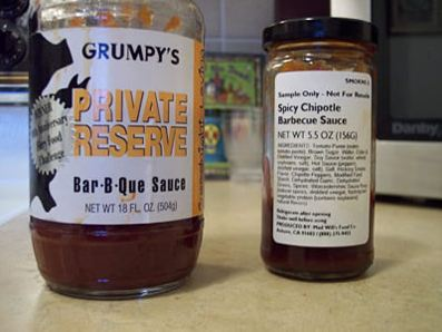 Grumpy's Private Reserve Bar-B-Que Sauce vs. Mad Will's Chipotle Barbecue Sauce