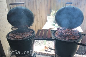 Jerky on the Big Green Eggs