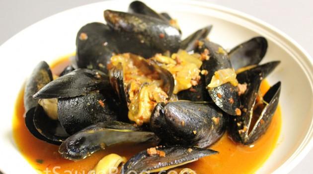 Jalapeno Chorizo Steamed Mussels