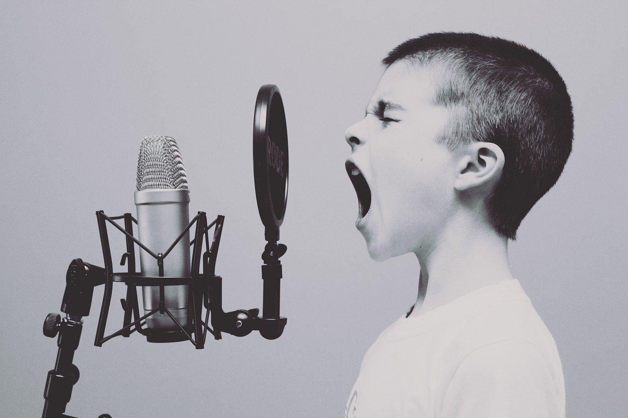 microphone, boy, studio