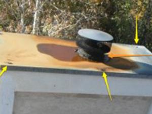 chimney cap leak