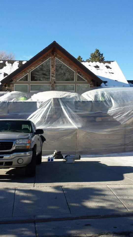 stucco repair tent
