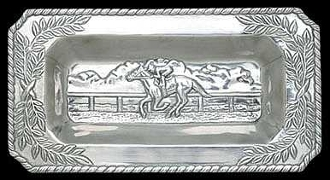 HORSE RACING BREAD TRAY