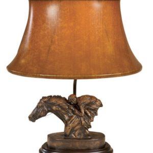 RACEHORSE AND JOCKEY LAMP