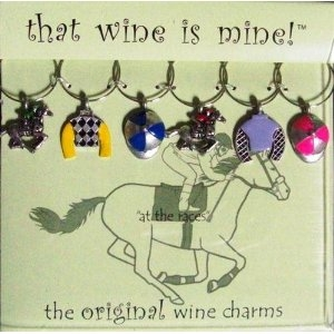 HORSE RACING WINE CHARMS