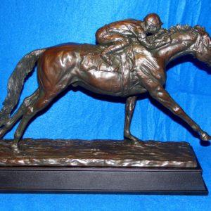 Stetch Run Horse Racing Trophy