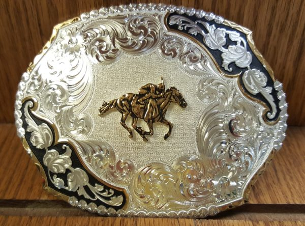 Horse Racing Belt Buckle