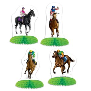 Horse Racing Table Centerpieces