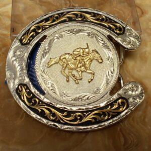 Horseshoe Horse Racing Buckle