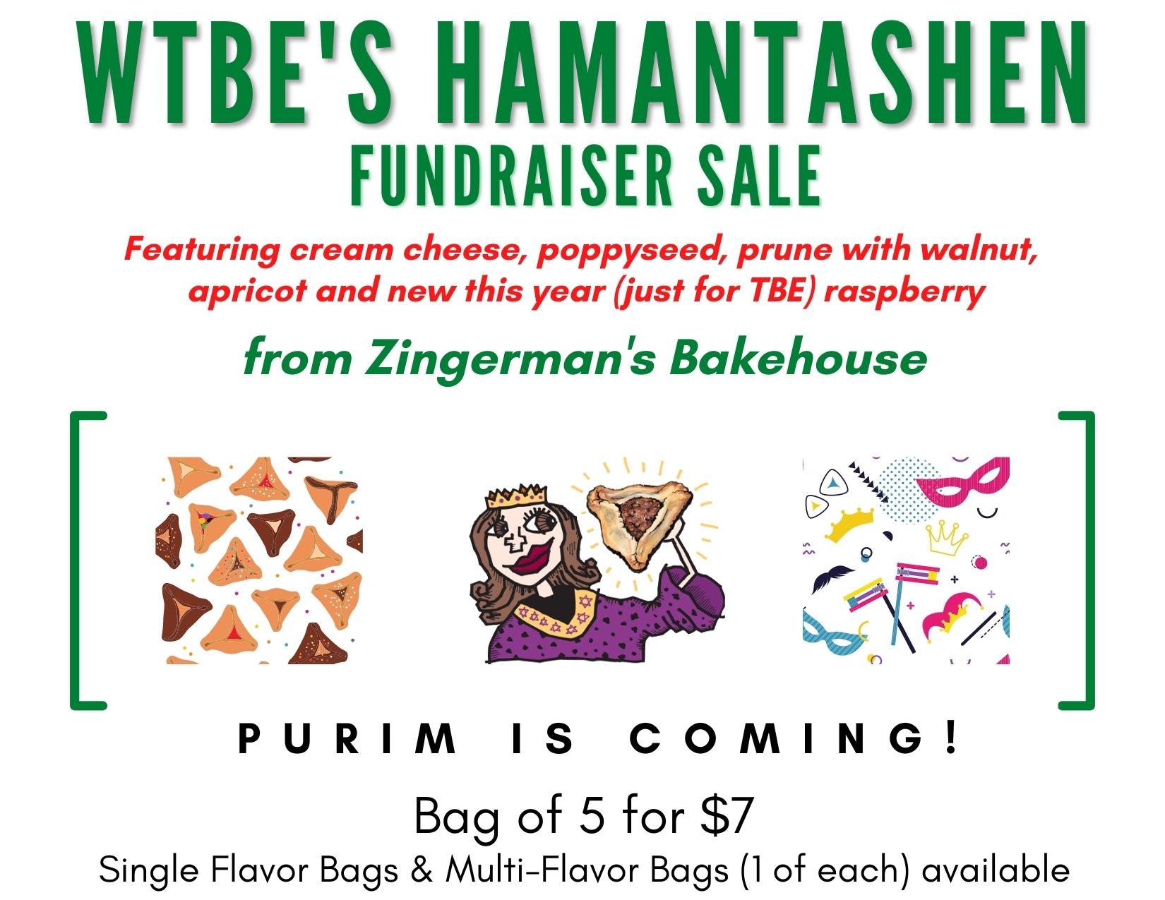 WTBE'S hamantasChen Fundraiser Sale