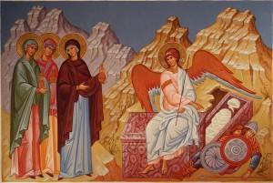 Myrrhbearing women at the tomb