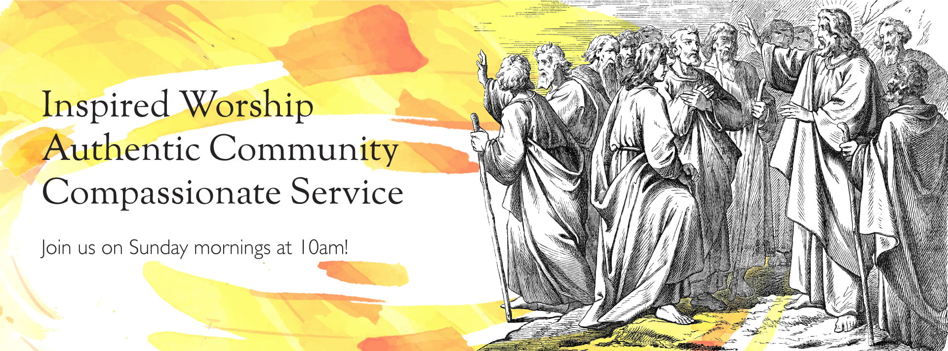 Join us at 10am on Sundays!