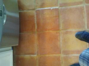 saltillo tile after strip, clean, and sealed 4