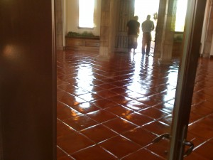 Clay Pavers Sealed terra cotta tile