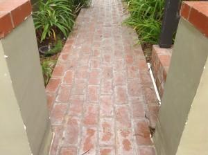 improperly sealed and sanded bricks