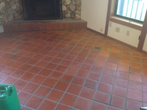 stripped and cleaned ceramic tile