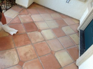 saltillo mexican pavers stripped