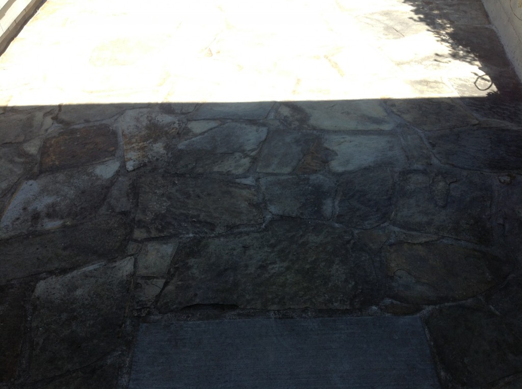 dirty sealer slate tiles