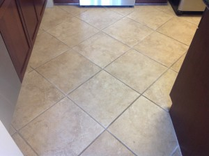 porcelain tile dirty grout