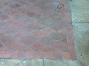 Pavers White and Hazy Before