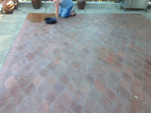 outside Mexican paver Patio