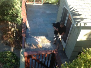 natural slate patio