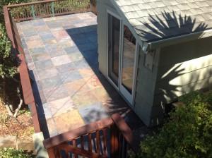 cleaned slate tile patio