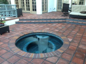 sealed rustic pavers