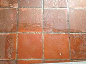 waxed paver sample