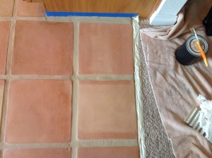 saltillo grout stained
