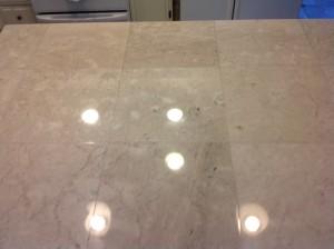 shiny marble tiles