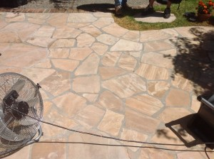 clean grout patio