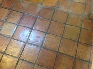 dirty antique saltillo tiles