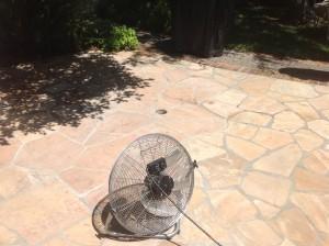 clean patio flagstone