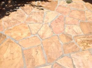 flagstone patio restored