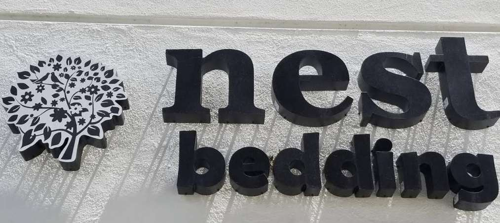 nest bedding from front of santa monica location