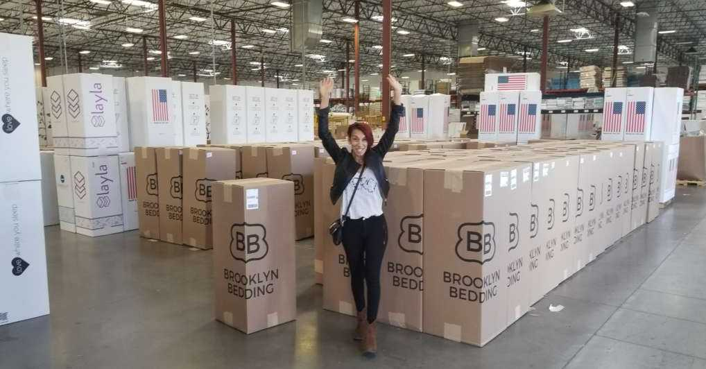 Brooklyn bedding beds in boxes along with layla and nest bedding